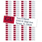Gonzaga University Custom Return Address Labels