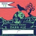 Customizable Halloween Homebrew Beer Label