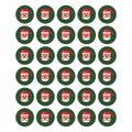 "Santa Labels 1.5"""