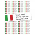 Italian Flag Return Address Labels