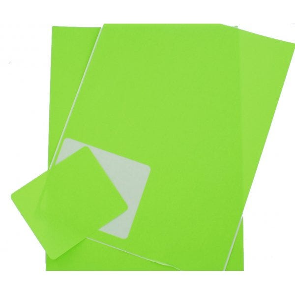 Fluorescent Green Shipping Labels for Inkjet or Laser Printers