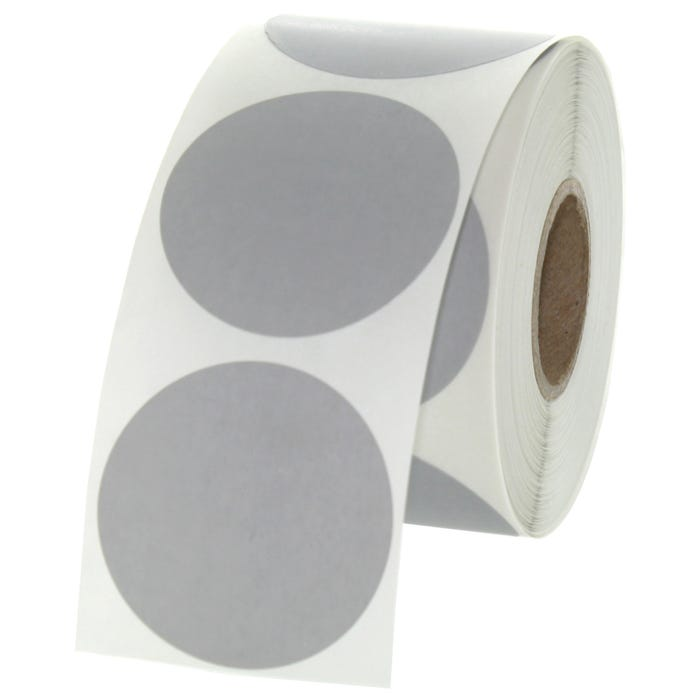 "1.5"" Round Labels - Gray"