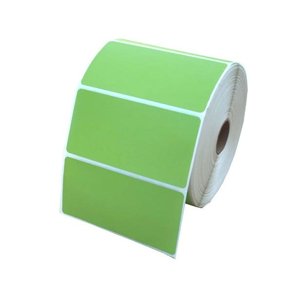 "Zebra 4"" x 2"" Green Labels 4.4"" OD - LV-10010031G"