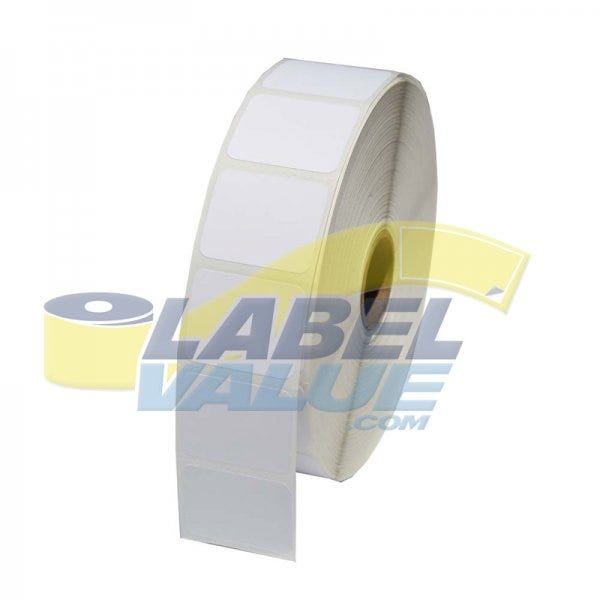 "Zebra 1-1/4"" x 1"" Shelf Labels 5"" OD - LV-10010038"