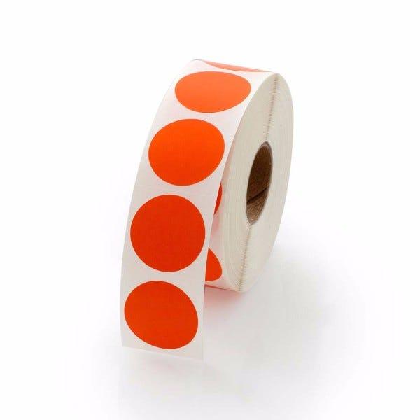 """1"""" Round Labels - Orange"""