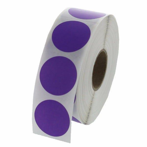 """1"""" Round Labels - Purple"""
