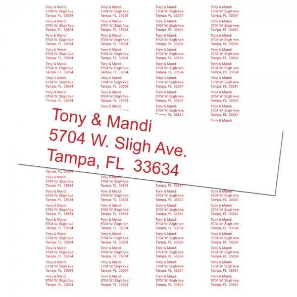 Return Address Labels - 80 Labels Per Sheet