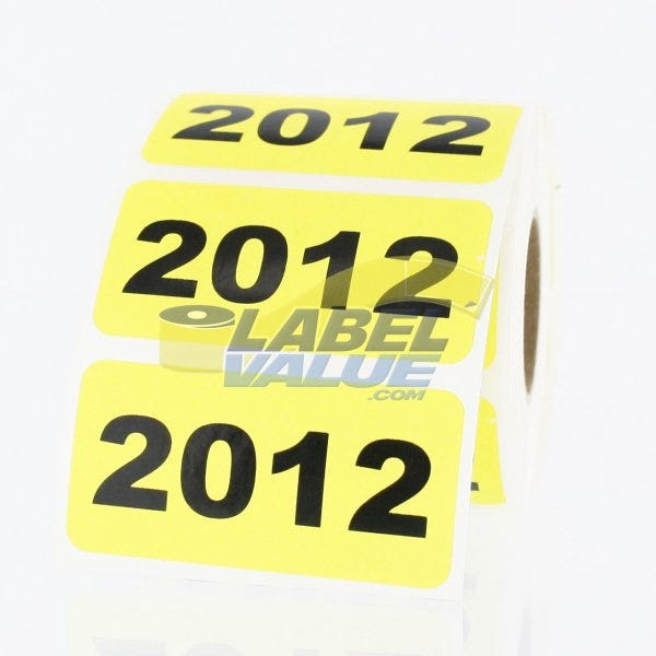 """2012 Inventory Labels 2"""" x 1"""""""
