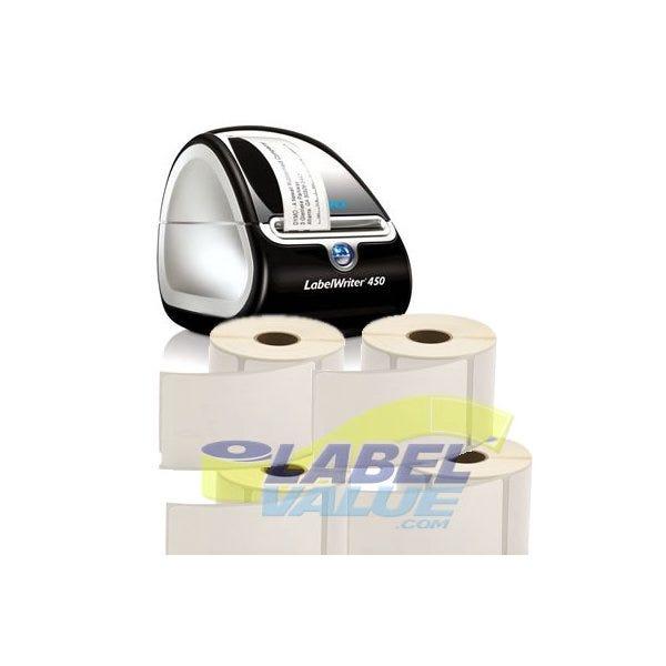 "Shipping Label Starter Kit - 4 Rolls of 2-5/16"" x 4"" Shipping Labels & Printer"