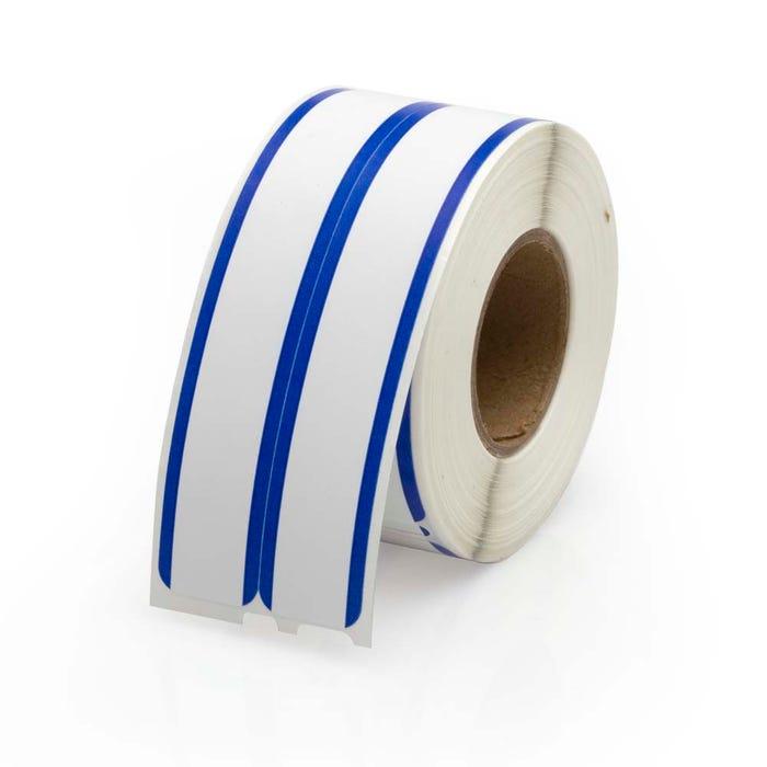 Dymo Compatible LV-30275 File Labels w/Blue Stripe - 2-up