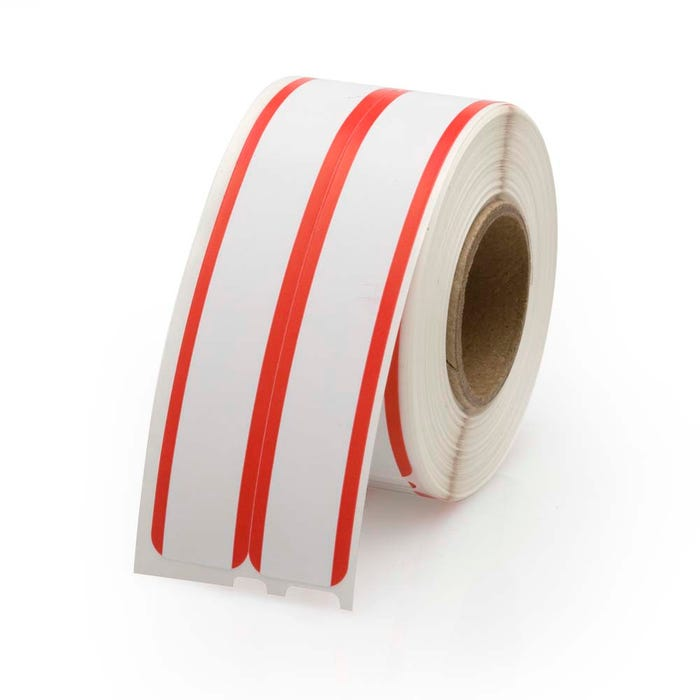 Dymo Compatible LV-30276 File Labels w/Red Stripe - 2-up
