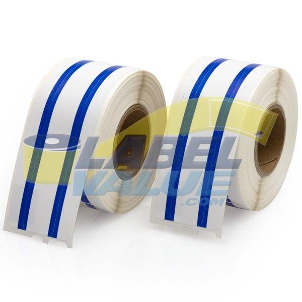 Dymo Compatible LV-30327 File Labels, Blue Stripe