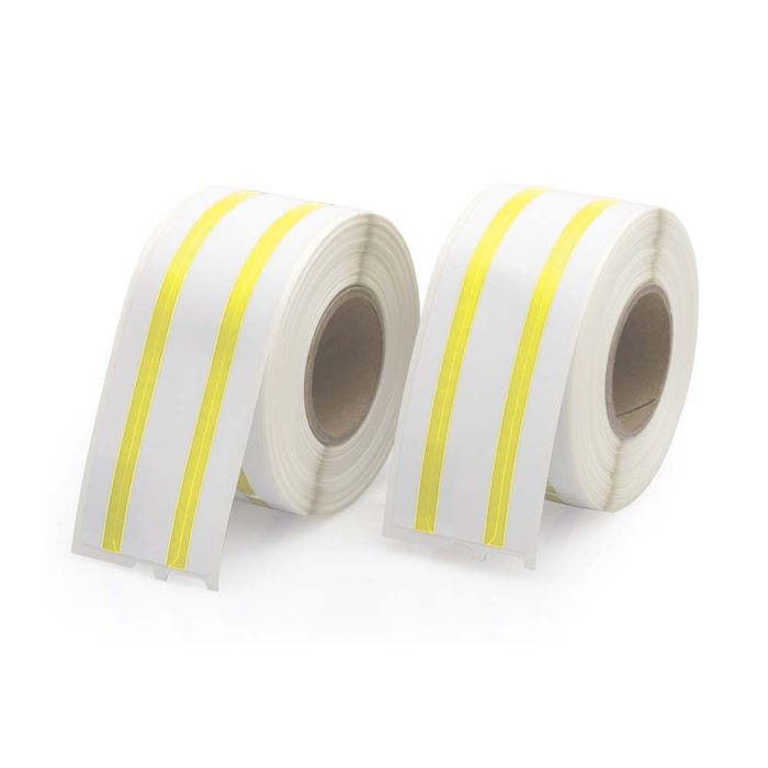 Dymo Compatible LV-30327 File Labels, Yellow Stripe