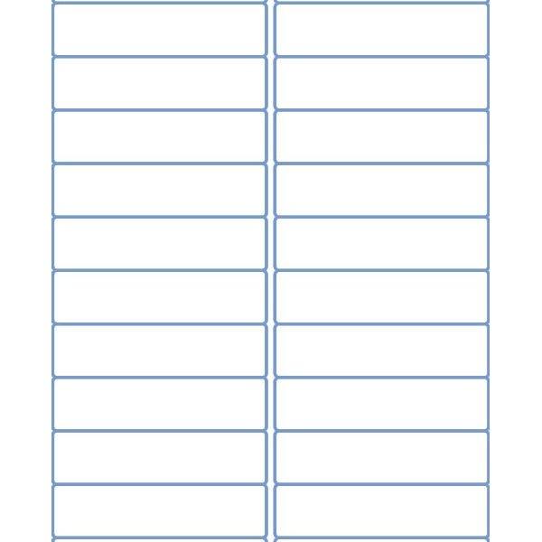 """4"""" x 1"""" Address Sheet Labels for Laser or Inkjet Printers"""