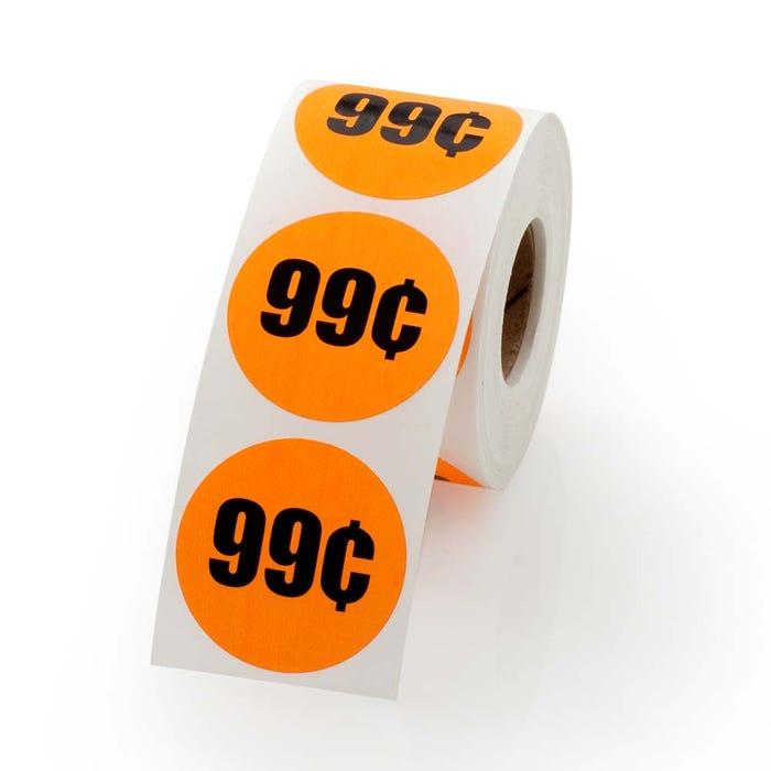 """99 Cents Labels 1.5"""""""