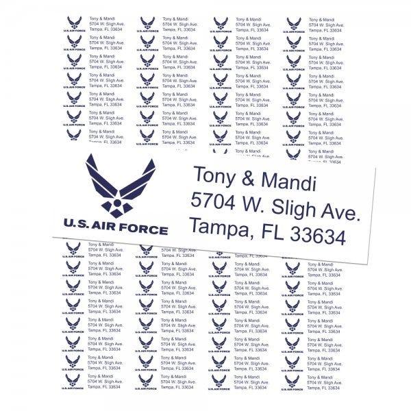U.S. Air Force Return Address Labels
