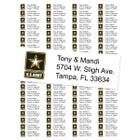 U.S. Army Return Address Labels