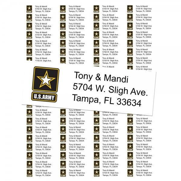 U.S. Army Return Address Labels