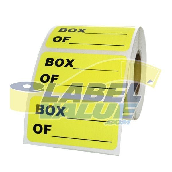"Box ____ of ____ Inventory Labels 2"" x 1"""