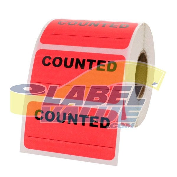 "Counted Inventory Labels 2"" x 1"""