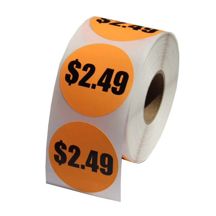 Custom Printed Price Labels 1.5""
