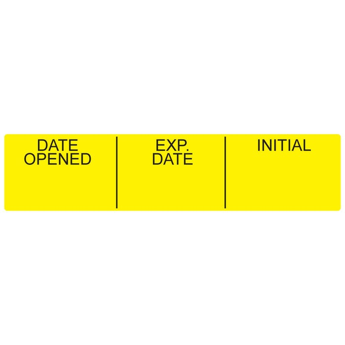 Date Opened Medication Instruction Labels