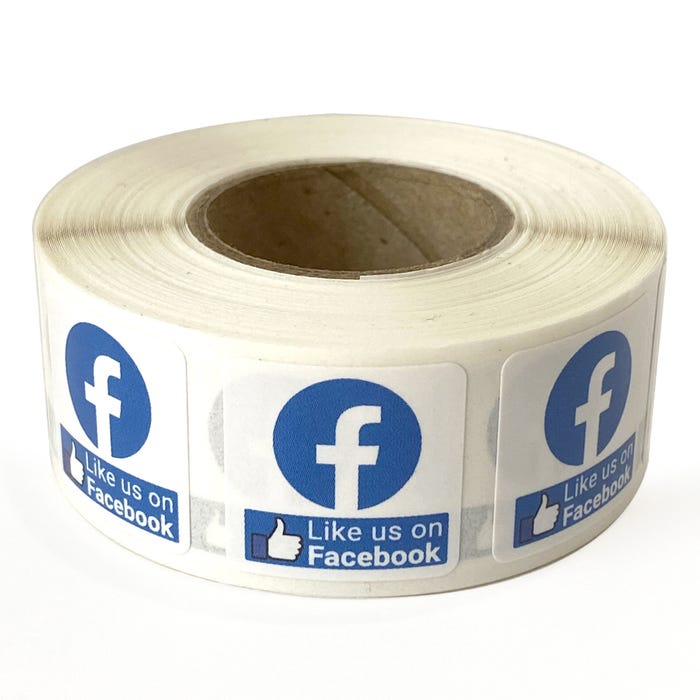 "Like Us on Facebook Labels 3/4""x 3/4"""