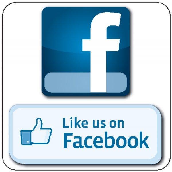 "Facebook Window Cling - 5""x 5"""