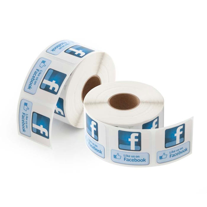 "Like Us on Facebook Labels 1.5""x 1.5"""