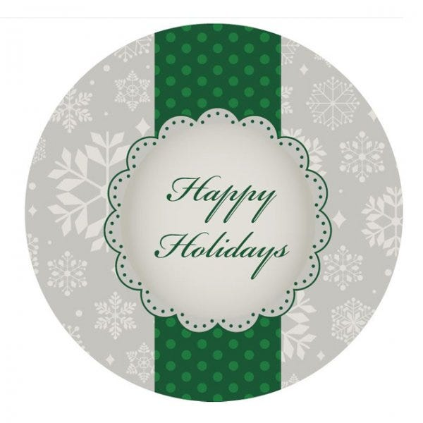 """Happy Holidays Labels 1.5"""""""