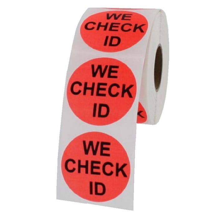 We Check ID Labels 1.5""