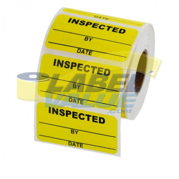 """Inspected Inventory Labels 2"""" x 1"""""""