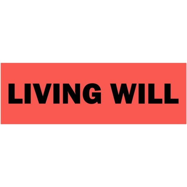 Living Will Medical Healthcare Labels