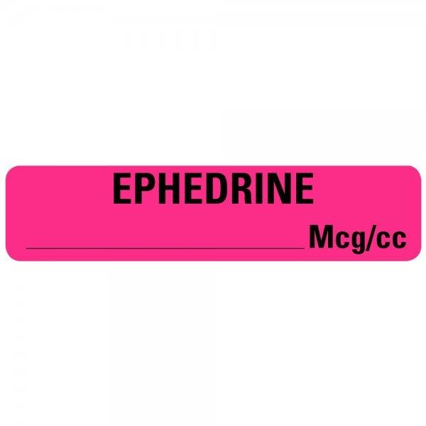 EPHEDRINE MCG/CC Drug Syringe Labels