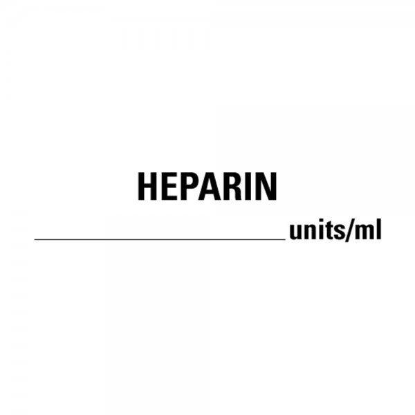 HEPARIN Units/Ml Medical Healthcare Labels