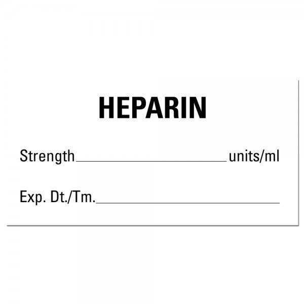 HEPARIN Medical Healthcare Labels