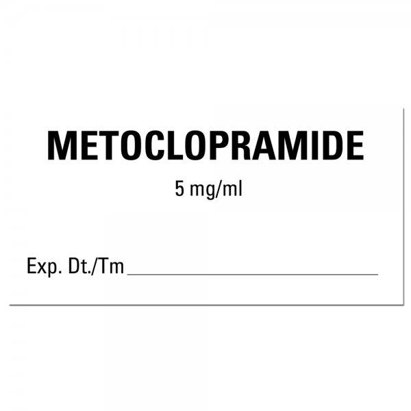 METOCLOPRAMIDE Expiration Date Medical Labels