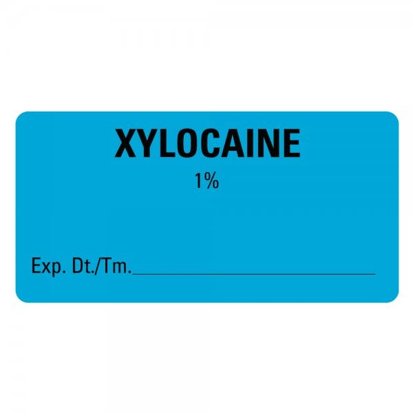 XYLOCAINE Expiration Date Medical Labels