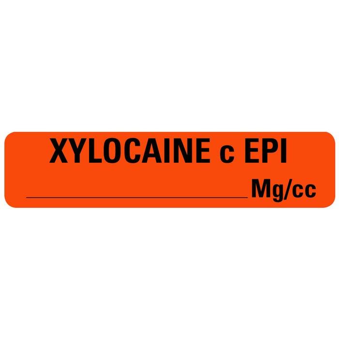 XYLOCAINE EPI Drug Syringe Labels