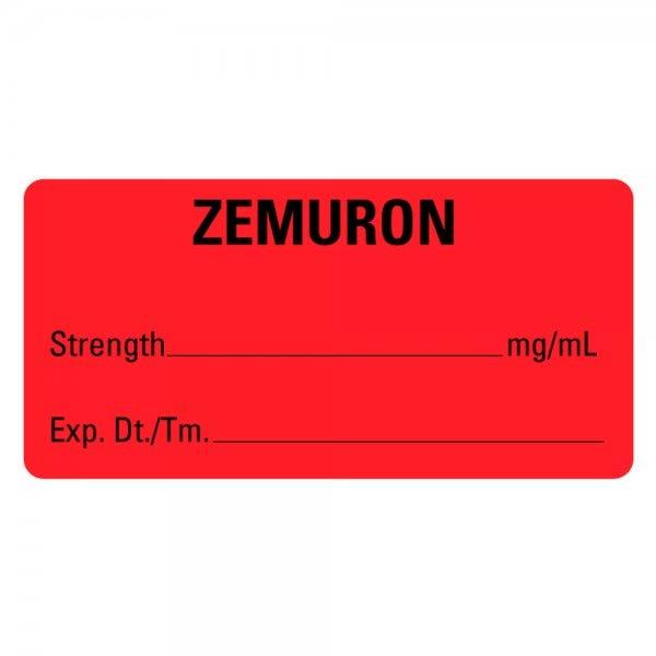 ZEMURON Medical Labels