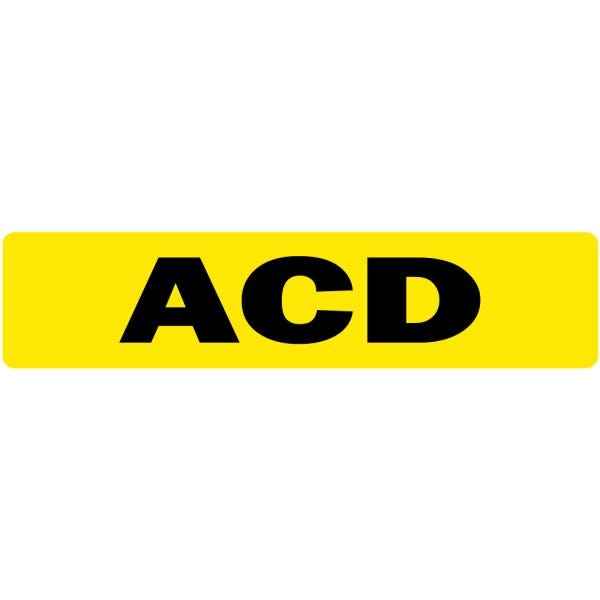 ACD Medical Labels Fluorescent
