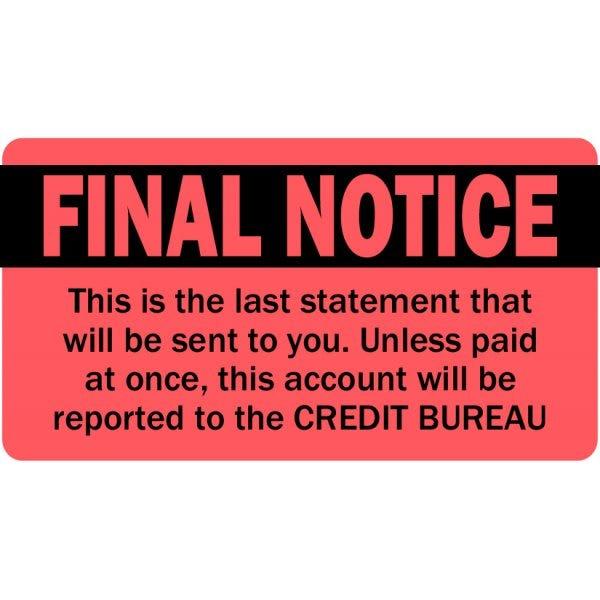 Final Notice Labels