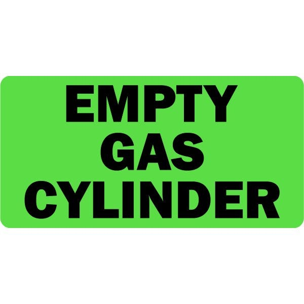 Empty Gas Cylinder Medical Labels