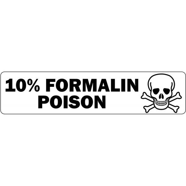 10 Percent Formalin Poison Medical Labels