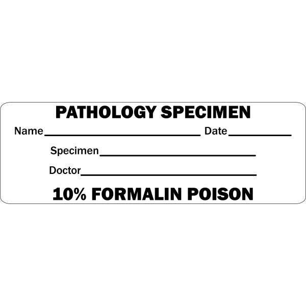 'Pathology Specimen' Medical Labels