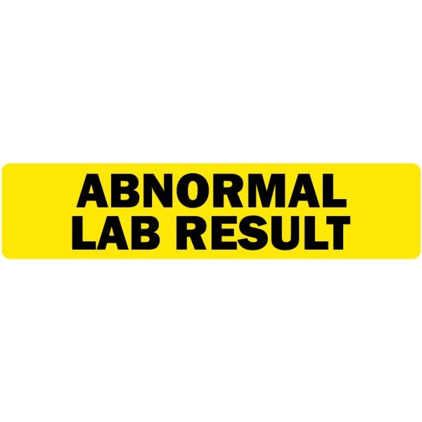 Abnormal Lab Results Medical Labels