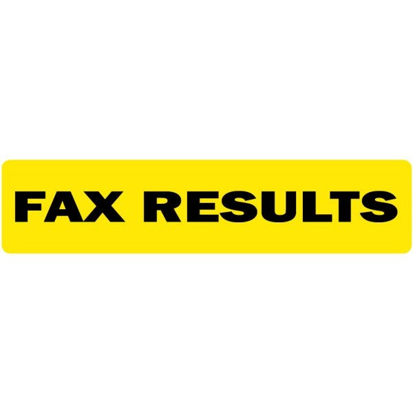 Fax Results Medical Labels