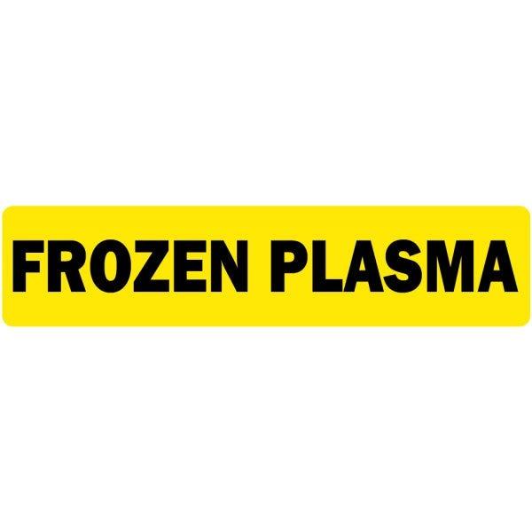 Frozen Plasma Medical Labels