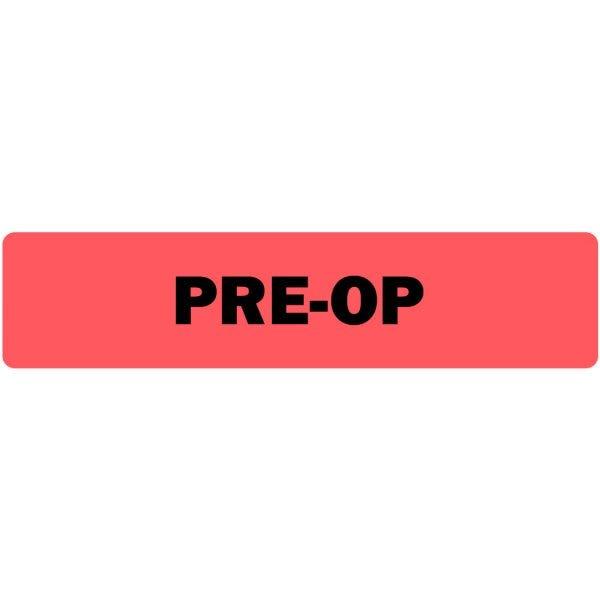 Pre-Op Medical Labels