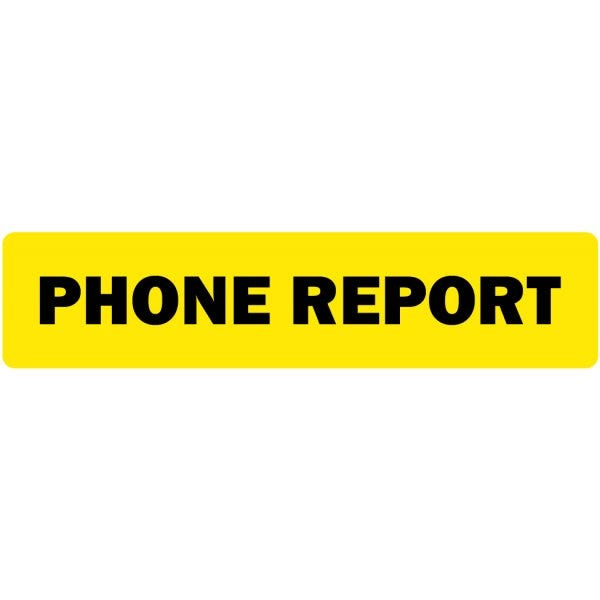 Phone Report Medical Labels